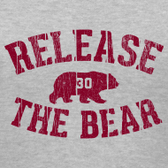 Design ~ Release the Bear - Women's - Grey V-Neck