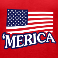 Design ~ Women's -- 'Merica Red Premium Tank.