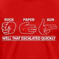 Design ~ Premium Tee: Rock, Paper, Gun