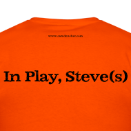 Design ~ Men's FRONT/BACK: CC/Steve(s) (orange)