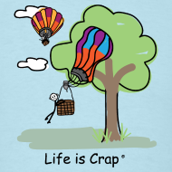 Design ~ Ballooning Tree Crash - Mens Classic T-Shirt