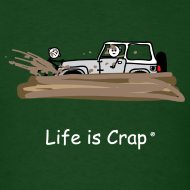 Design ~ Jeep Stuck in Mud - Mens Classic T-shirt