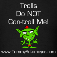 Design ~ Trolls Do Not Control Me blk/wht (Men's T-Shirt)