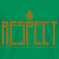 Design ~ mens gold font 3 & 4x Gildan Respect tee