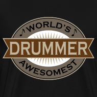 Design ~ Drummer Music Mens T-shirt (Awesome)