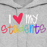 Design ~ Love My Students | Colorful | Teacher Shirts