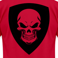 Design ~ Red With Black Shield