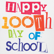 Design ~ Happy 100th Day of School | Women's V-Neck