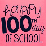 Design ~ Happy 100th Day of School | Glitter Black | Women's Flowy Tank
