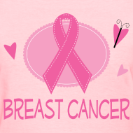 Design ~ Breast Cancer Pretty Awareness Ribbon Women's Tshirt