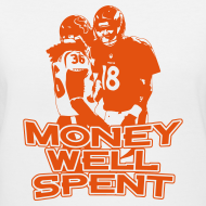 Design ~ Money Well Spent - Ladies V-Neck - Dark Design