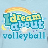 Design ~ Volleyball (I Love) Cute Funny Sports Women's Tshirt