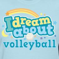 Design ~ Volleyball (I Love) Cute Funny Sports Women's Tshirt