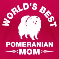 Design ~ pomeranian mom Women's T-Shirts