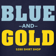 Design ~ Blue And Gold - Mens T-Shirt