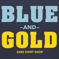 Design ~ Blue And Gold - Ladies V-Neck