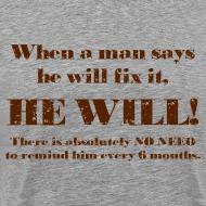 Design ~ When a man says he'll fix it