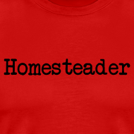 Design ~ Homesteader - black text