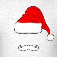 Design ~ Santa Hat and Mustache Men's Shirt