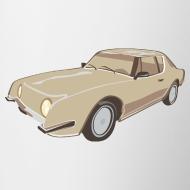Design ~ Gold Studebaker Avanti illustration