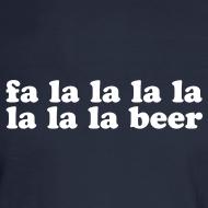 Design ~ Fa La La La Beer Men's Long Sleeve Shirt