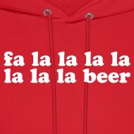 Design ~ Fa La La La Beer Men's Hoodie Sweatshirt