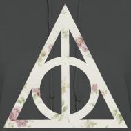 Design ~ Deathly Hallows (Floral) - Women's Hoodie
