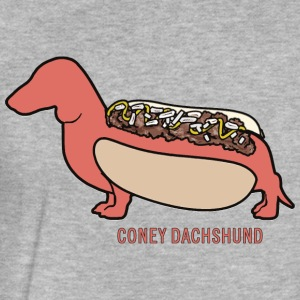 Coney Dachshund - Fitted Cotton/Poly T-Shirt by Next Level