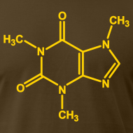 Design ~ YellowIbis.com 'Chemical Structures' Men's / Unisex American Apparel T: Caffeine (Color choice)