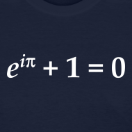 Design ~ YellowIbis.com 'Mathematics Physics' Women's Standard T-Shirt: Euler's Identity (Color choice)