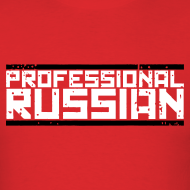 Design ~ Mens Tee : Professional Russian (White)