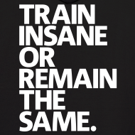 Design ~ Train Insane | Mens Hoodie (Back Print)