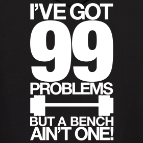 Design ~ 99 problems | Mens Hoodie (Back Print)