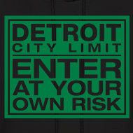 Design ~ Detroit Risk Mens Hoodie