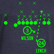 Design ~ RUN THE BALL (Marshawn Lynch & Russell Wilson)