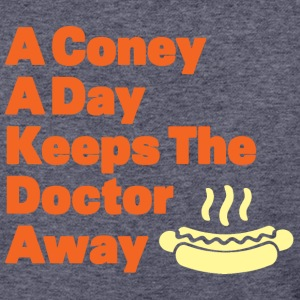 Detroit Coney Dog A Day Keeps Doctor Away  - Baseball T-Shirt