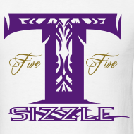 Design ~ MENS T SIZZLE LOGO T SHIRT WHITE/PURPLE
