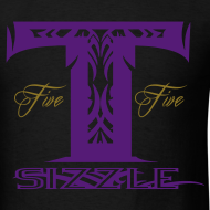Design ~ MENS T SIZZLE LOGO T SHIRT BLK/PURPLE