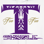 Design ~ MENS HOODIE T SIZZLE LOGO WHITE/PURPLE