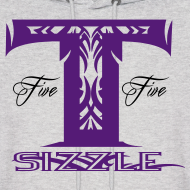 Design ~ MENS HOODIE T SIZZLE LOGO GREY/PURPLE