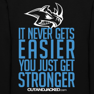 Design ~ Stronger| CutAndJacked | Womens hoodie (back Print)