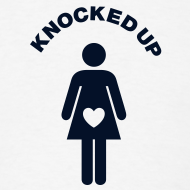 Design ~ Knocked Up T-shirt (Non-Maternity) (BLACK GLITTER)