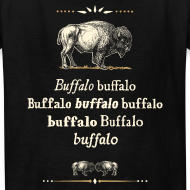 Design ~ Kids: Buffalo Buffalo T-shirt (black)