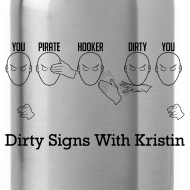 Design ~ Dirty Pirate Hooker Water Bottle