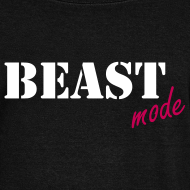 Design ~ beast mode off the shoulder sweatshirt