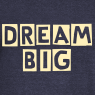 Design ~ dream big off the shoulder sweatshirt