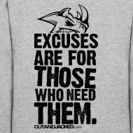 Design ~ Excuses are for those | Womens Hoodie (back print)