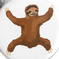 Design ~ Sloth Love Hug 5 Large Buttons