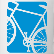 Design ~ Bike Bicycling Biking Mug Blue
