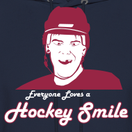 Design ~ Everyone Loves A Hockey Smile - Hoodie